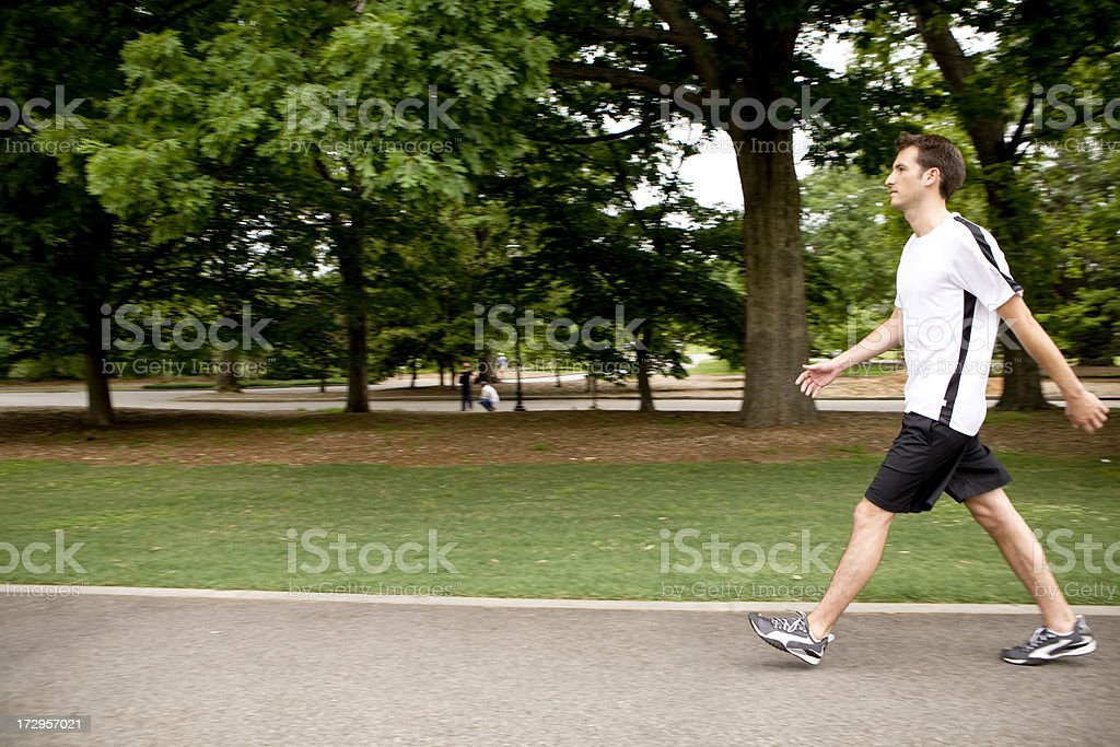 Power Walking royalty-free stock photo