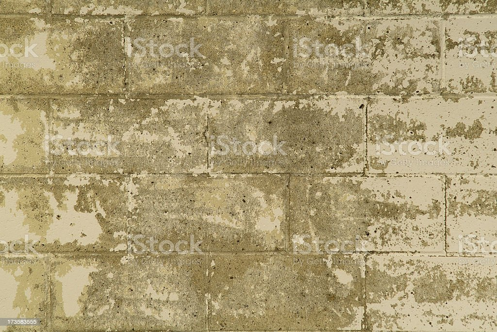 Power washed cinderblock wall close up royalty-free stock photo