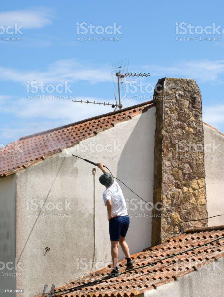 Power washing royalty-free stock photo