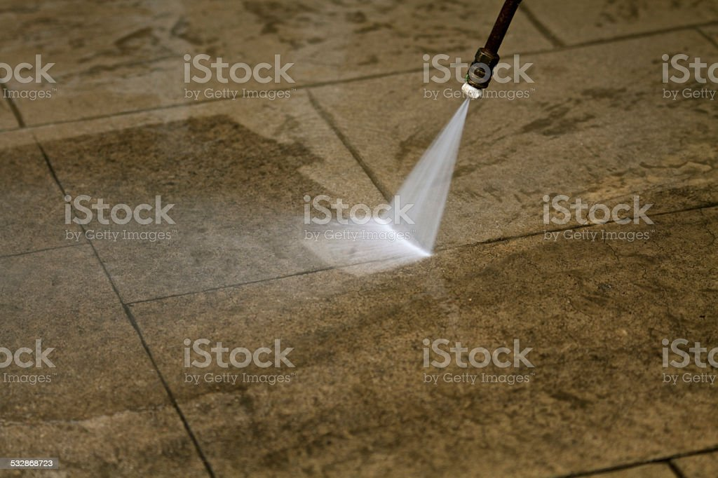 Power washing stock photo