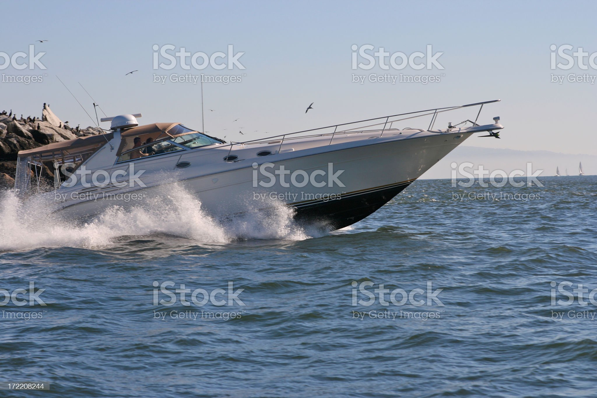 Power Wower Boater royalty-free stock photo