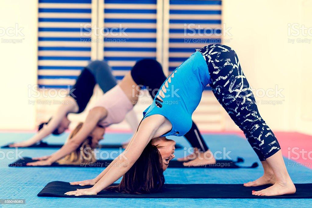 Power Yoga Class stock photo