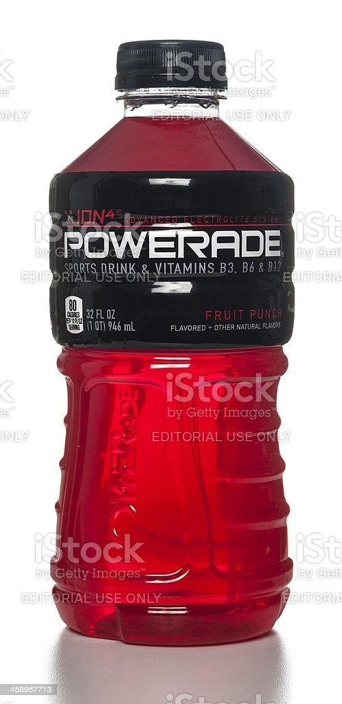 Powerade Sports Drink & Vitamins Fruit Punch bottle stock photo