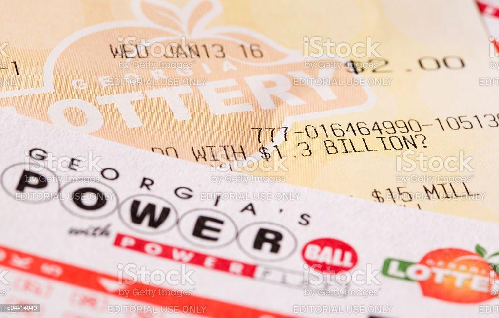 Powerball Lottery Billion stock photo