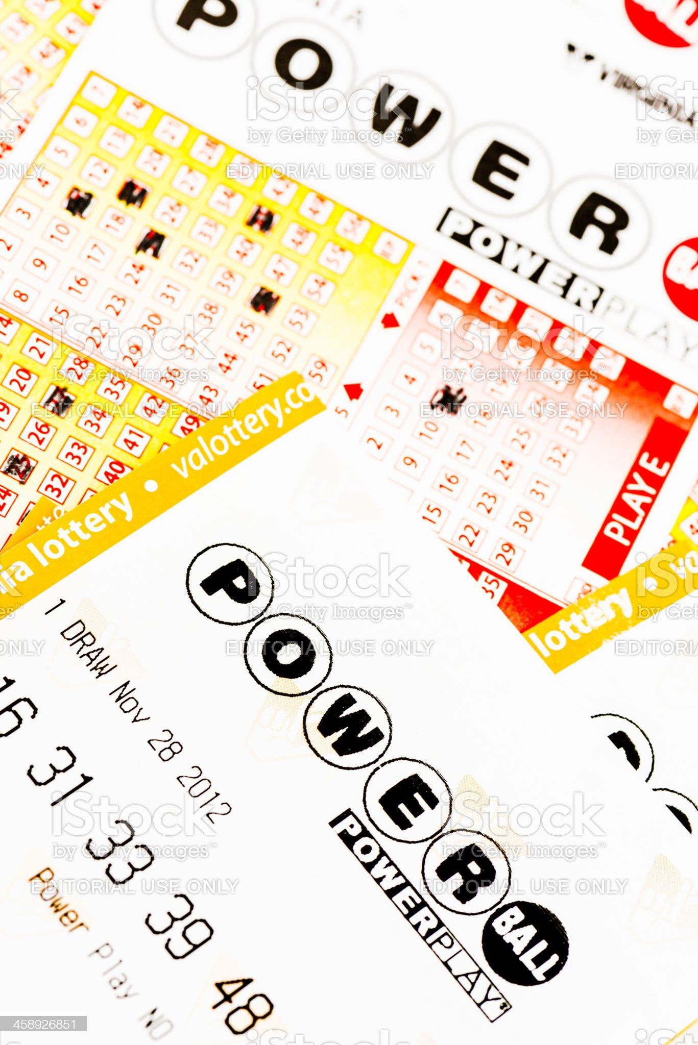 Powerball Lottery Ticket royalty-free stock photo