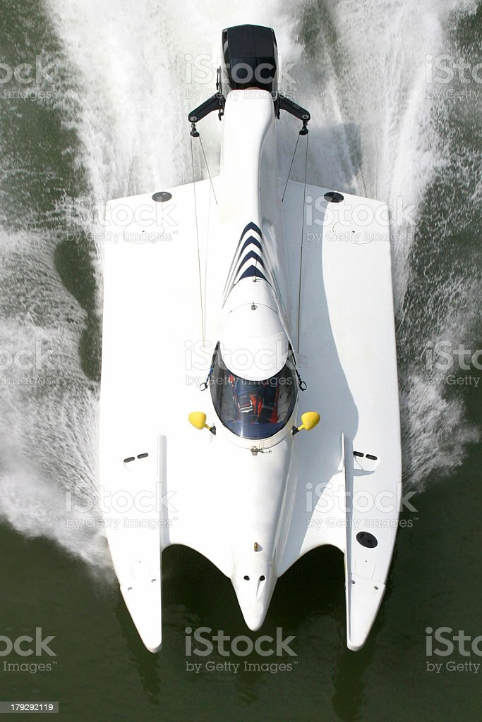 Powerboat At High Speed royalty-free stock photo