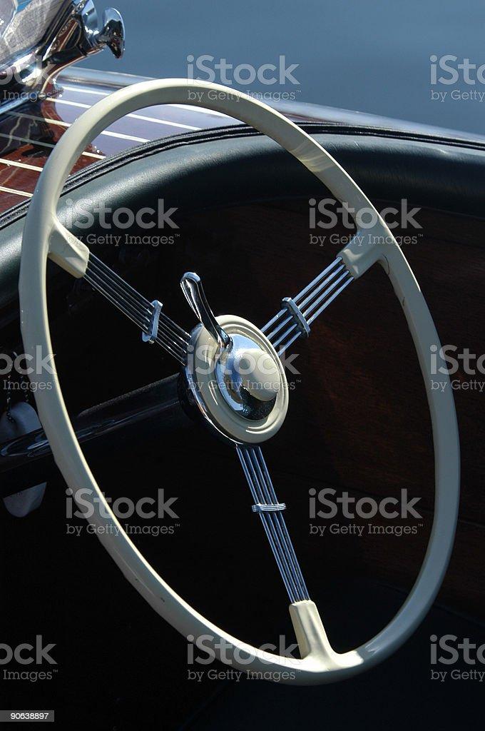 Powerboat Steering Wheel royalty-free stock photo