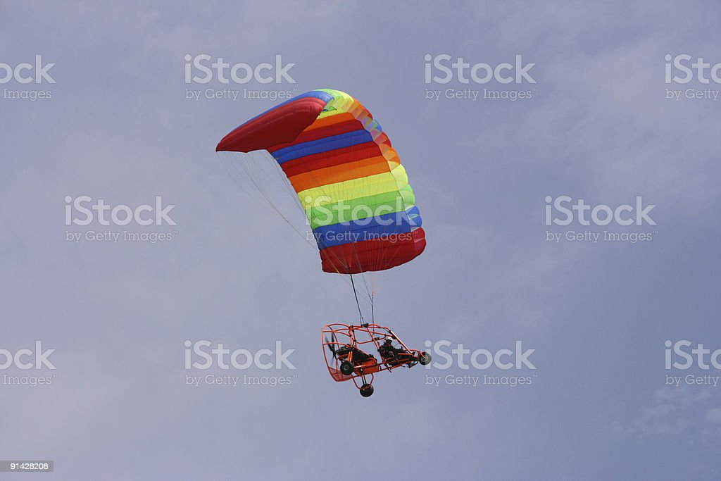 Powered paraglider royalty-free stock photo
