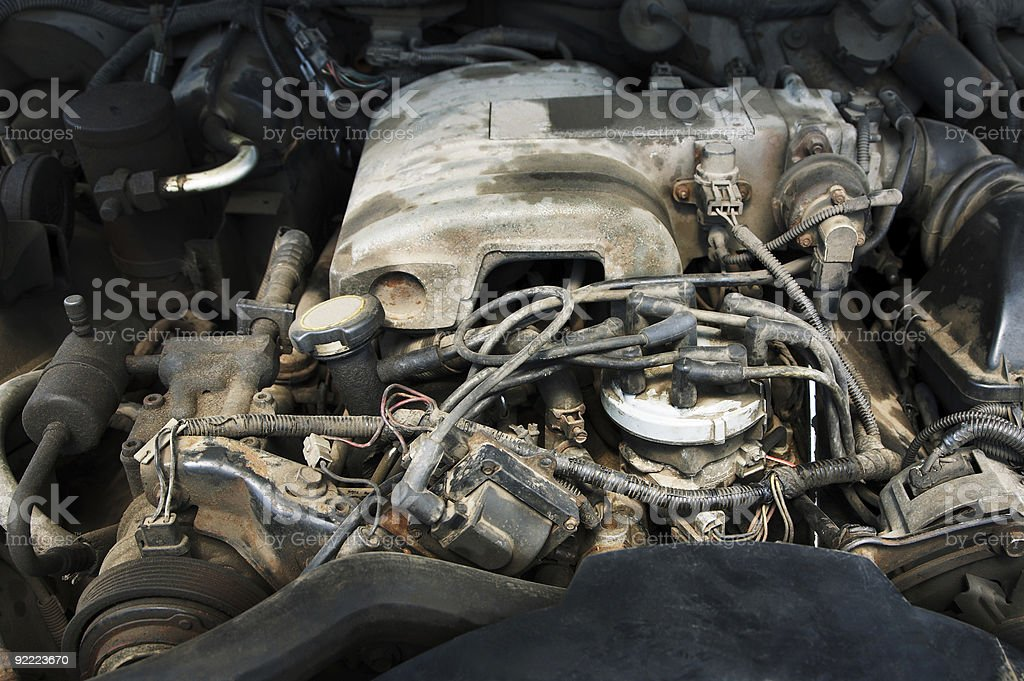 powerful and dusty engine royalty-free stock photo