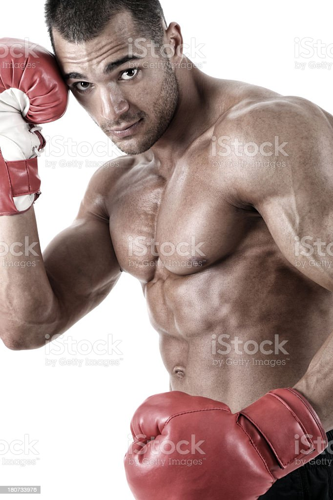 Powerful boxer royalty-free stock photo