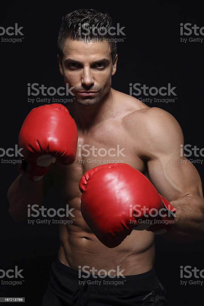 Powerful boxer royalty-free stock photo
