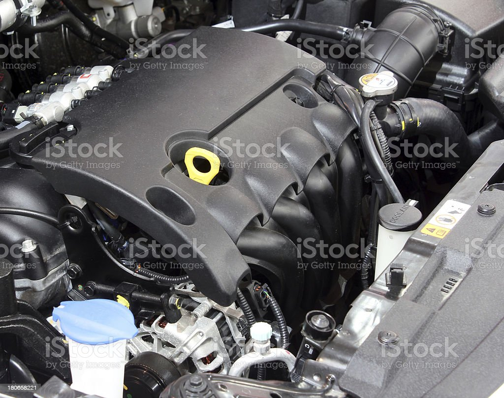 powerful car engine close up royalty-free stock photo