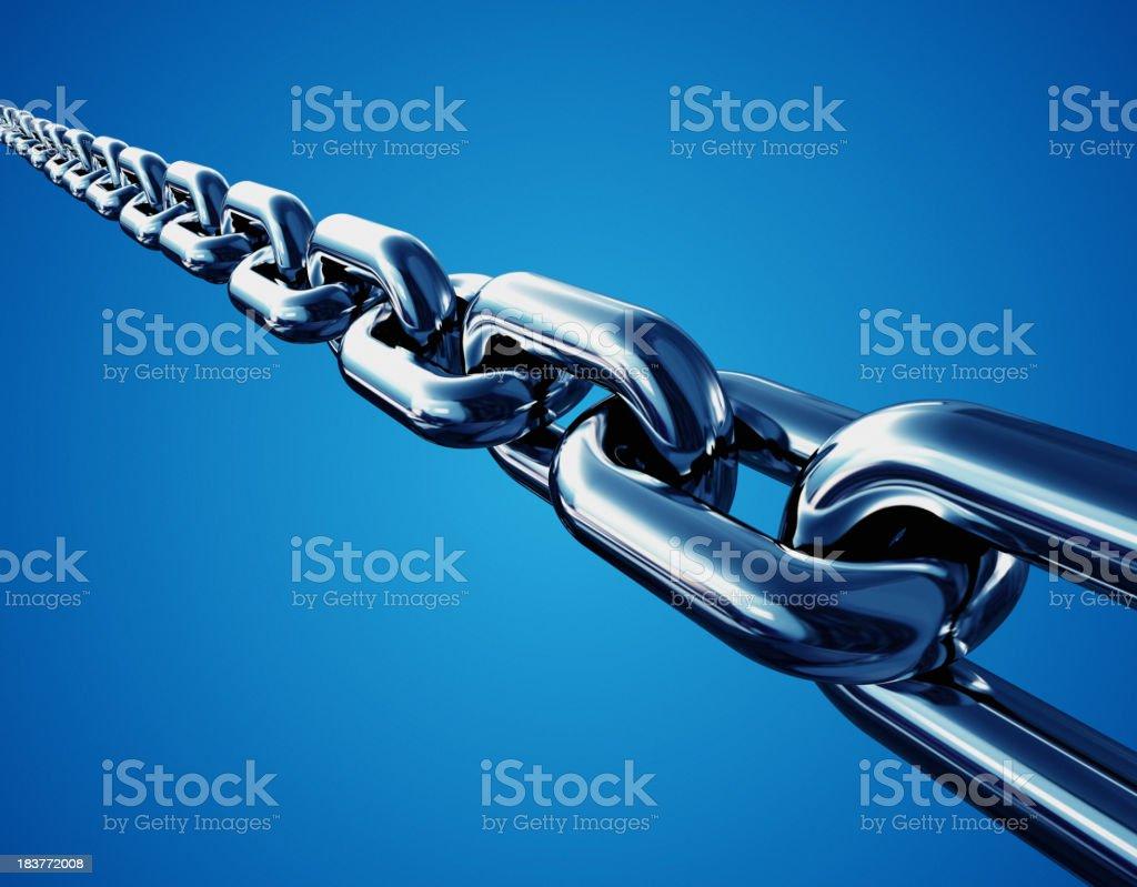 Powerful Chain Links stock photo