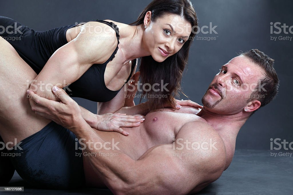 Powerful couple royalty-free stock photo