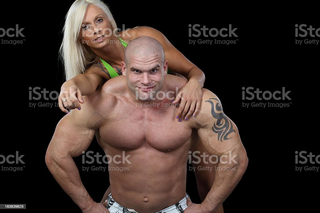 Powerful couple royalty-free stock photo