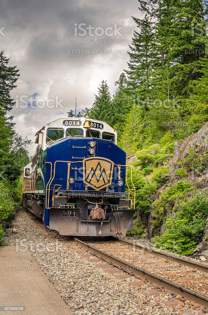Powerful Diesel Locomotive stock photo