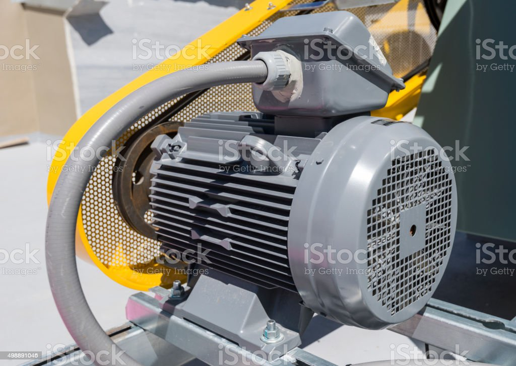 powerful electric motors for modern industrial equipment stock photo