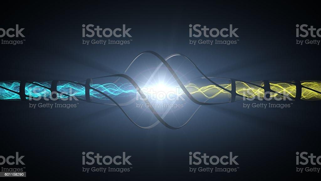powerful energy reaction stock photo