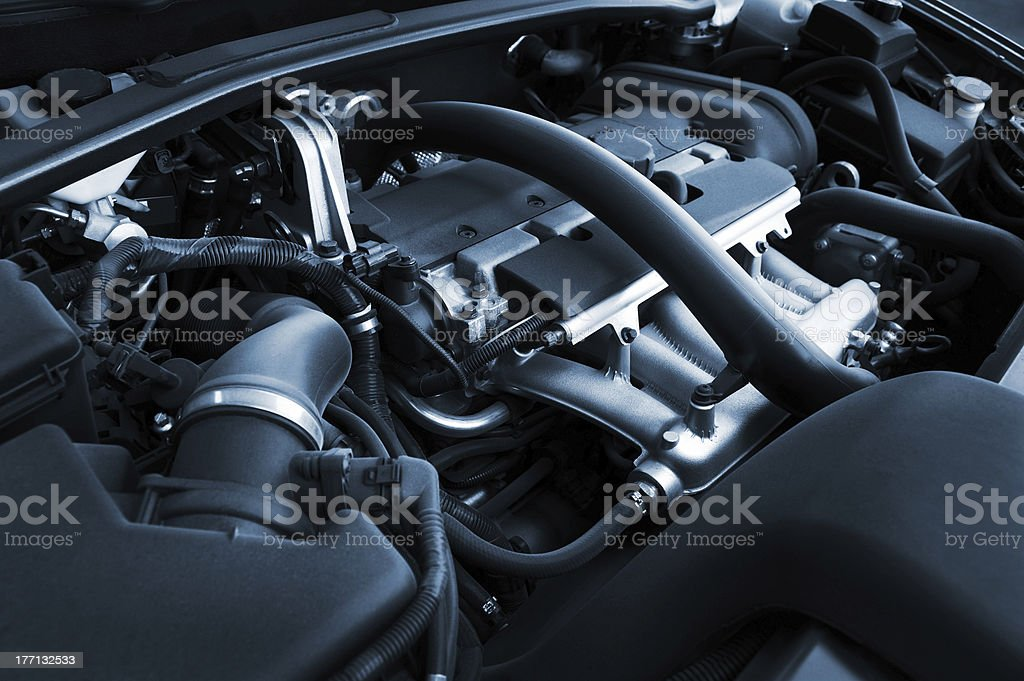 powerful engine stock photo