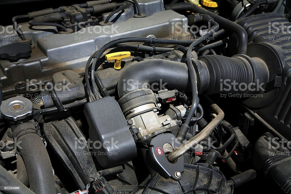 powerful engine royalty-free stock photo