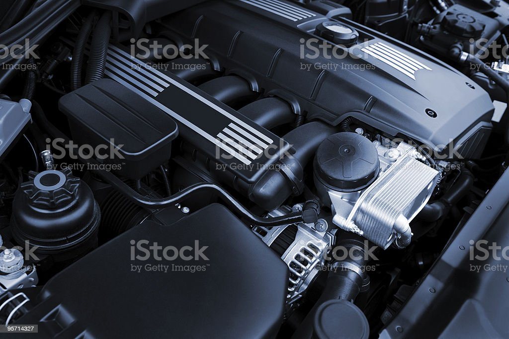 powerful engine royalty-free stock photo