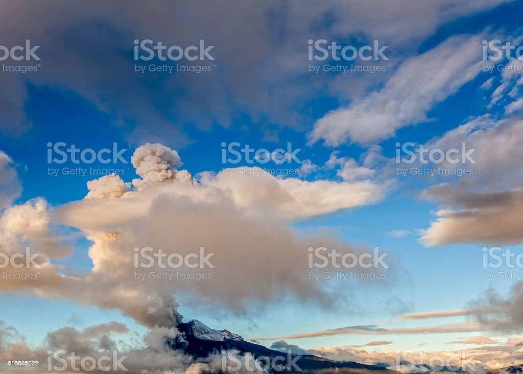 Powerful Explosion Of Tungurahua Volcano stock photo