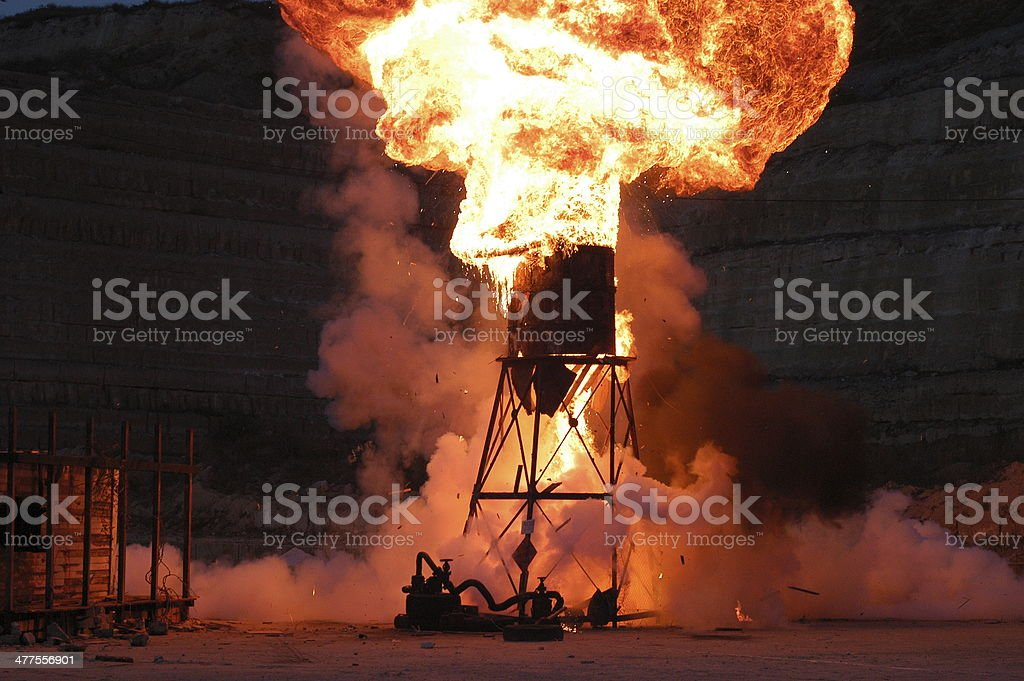 Powerful explosion royalty-free stock photo