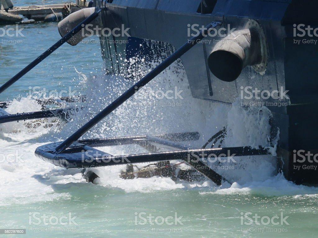 powerful Ferry engine stock photo