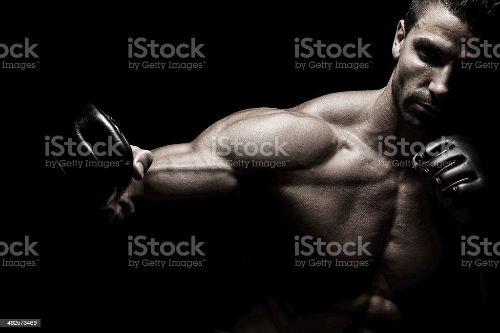 Powerful fighter stock photo