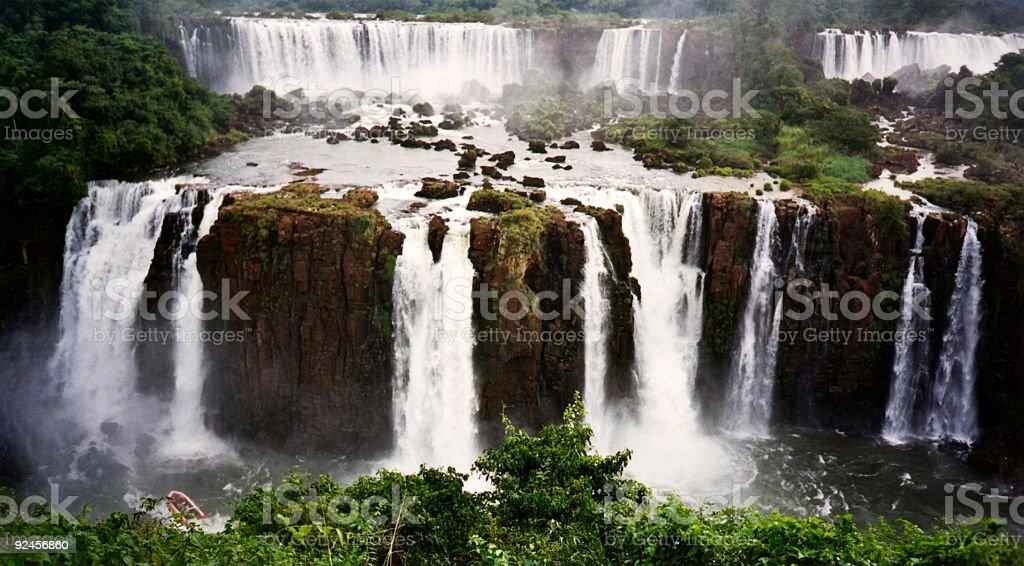 powerful foz de iguazu waterfall royalty-free stock photo