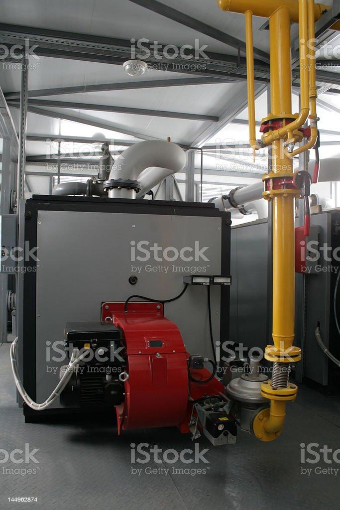 powerful gas boiler royalty-free stock photo
