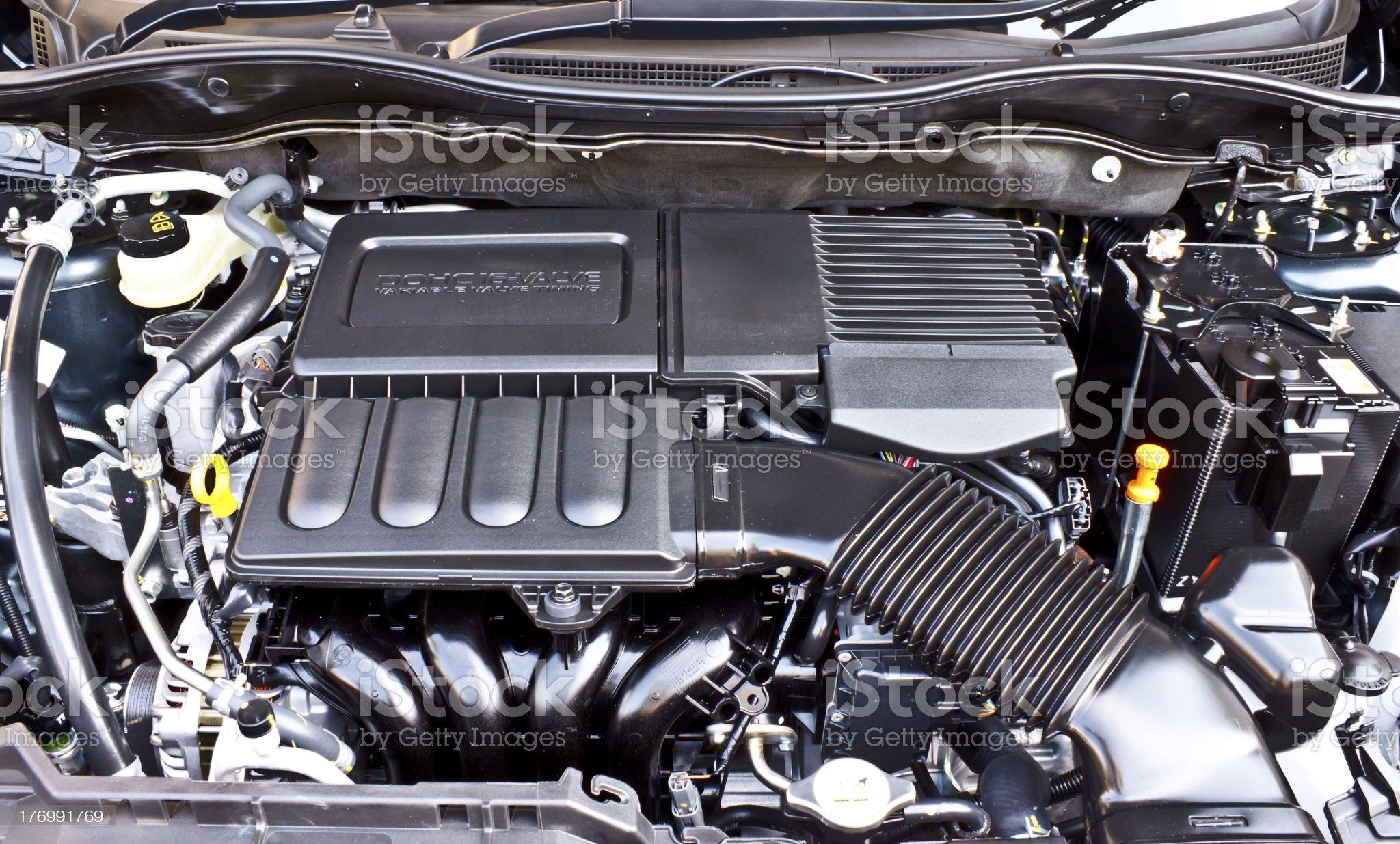 powerful gasoline engine royalty-free stock photo