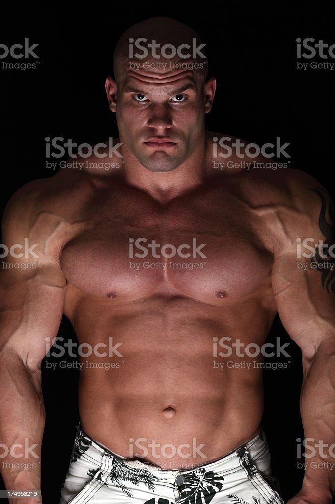 Powerful guy royalty-free stock photo