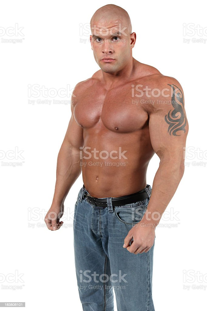 Powerful guy royalty-free stock photo