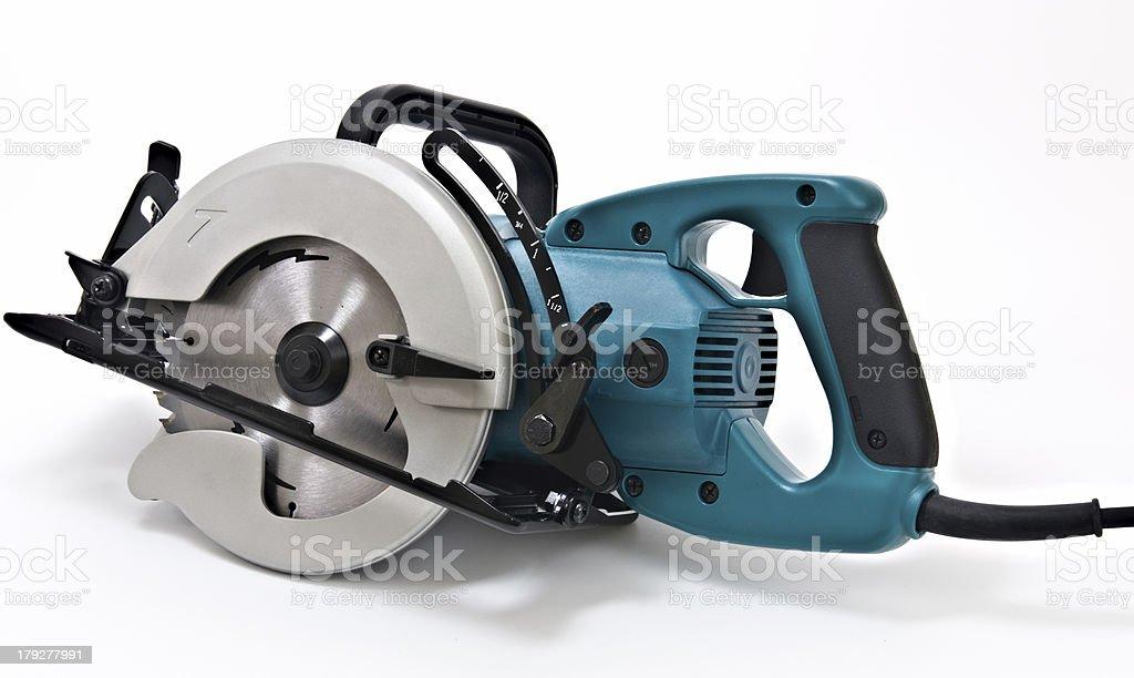 Powerful, Hand-Held Circular Saw Tool stock photo
