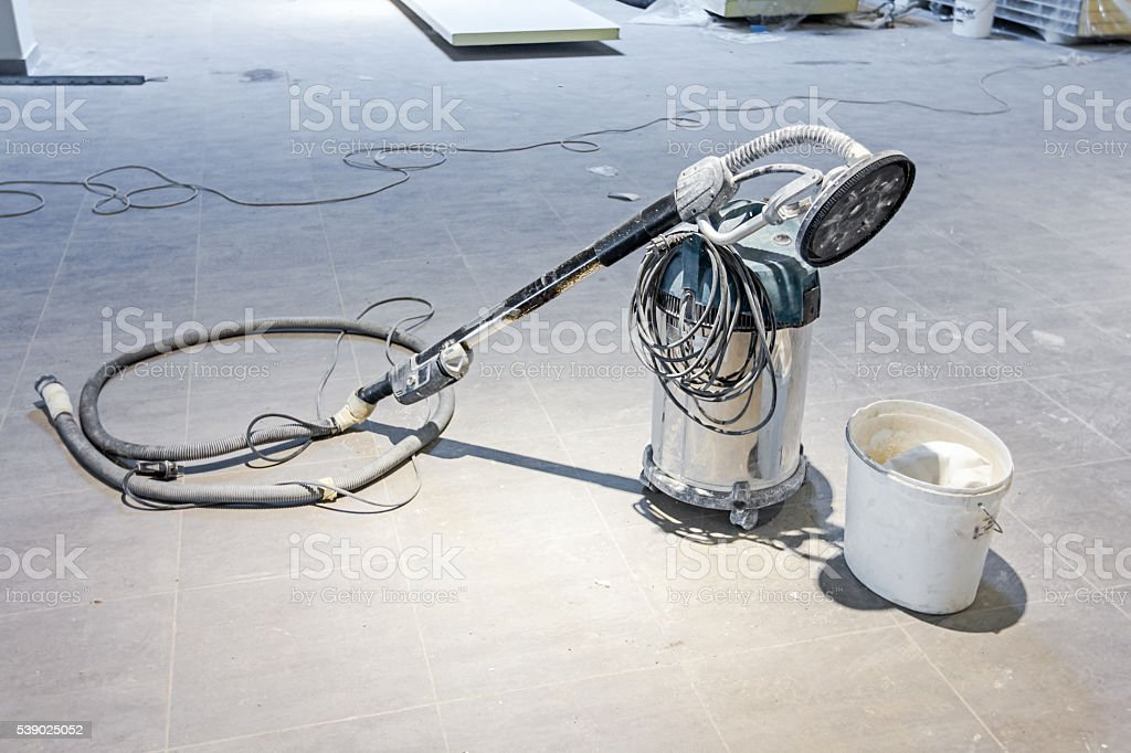 Powerful Industrial, commercial, vacuum cleaner machine stock photo