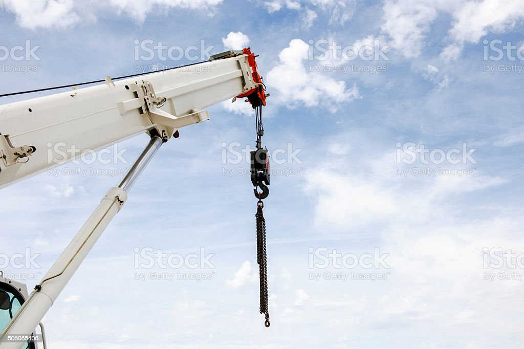 Powerful industrial crane stock photo