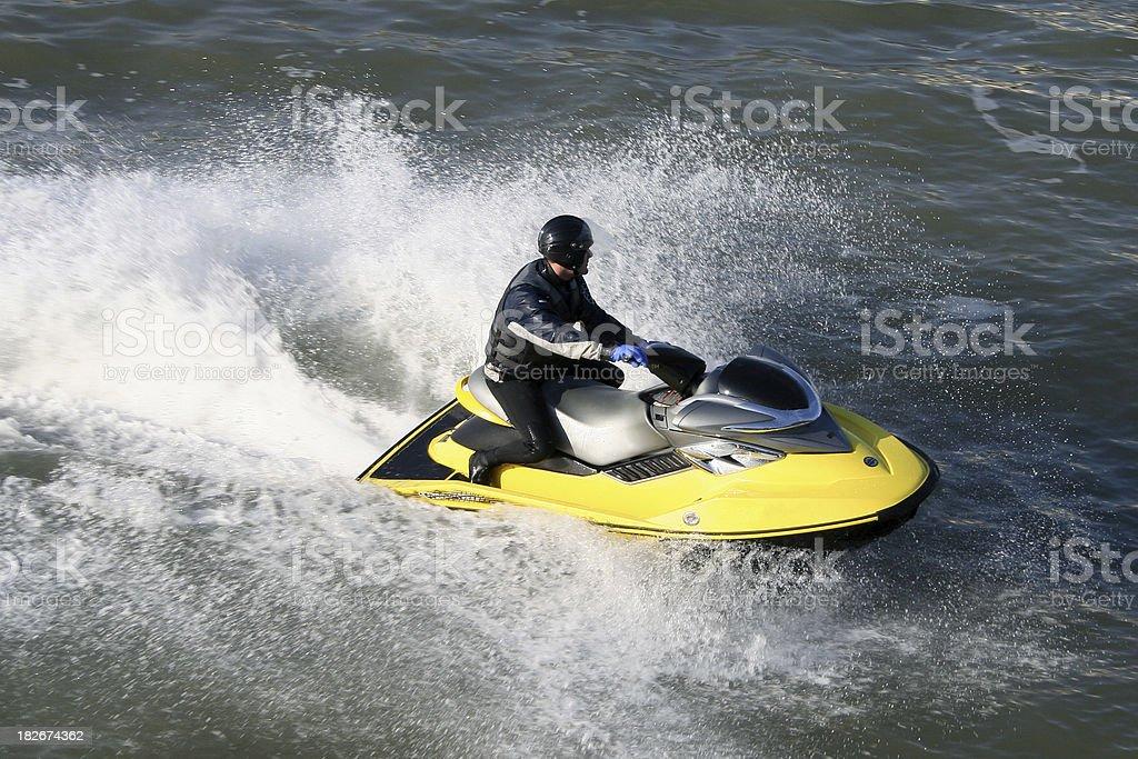 Powerful Jet Ski stock photo