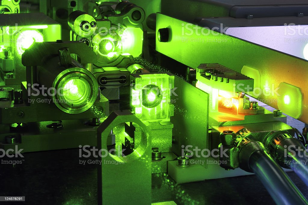 powerful laser royalty-free stock photo