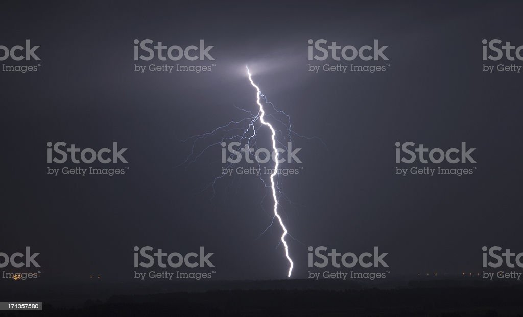 Powerful Lightning Bolt royalty-free stock photo