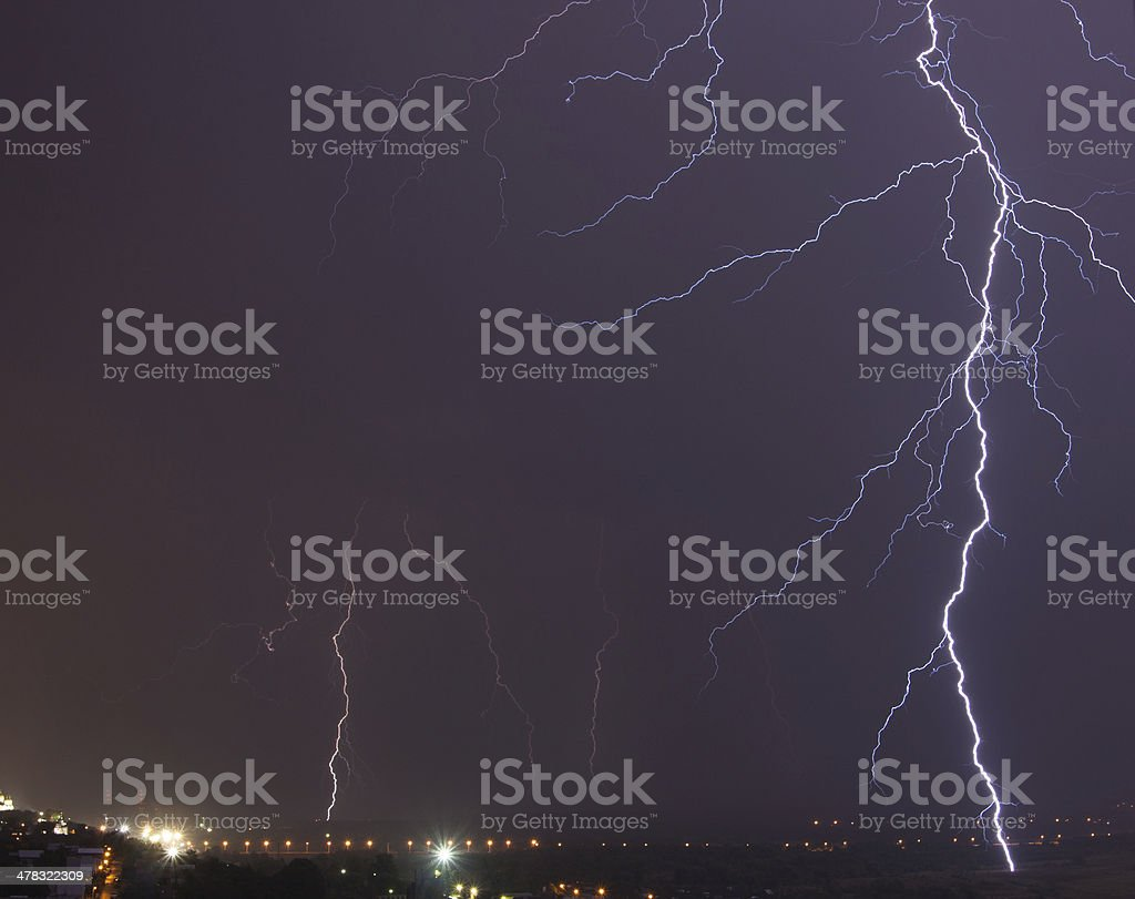 Powerful Lightning Bolt royalty-free stock photo