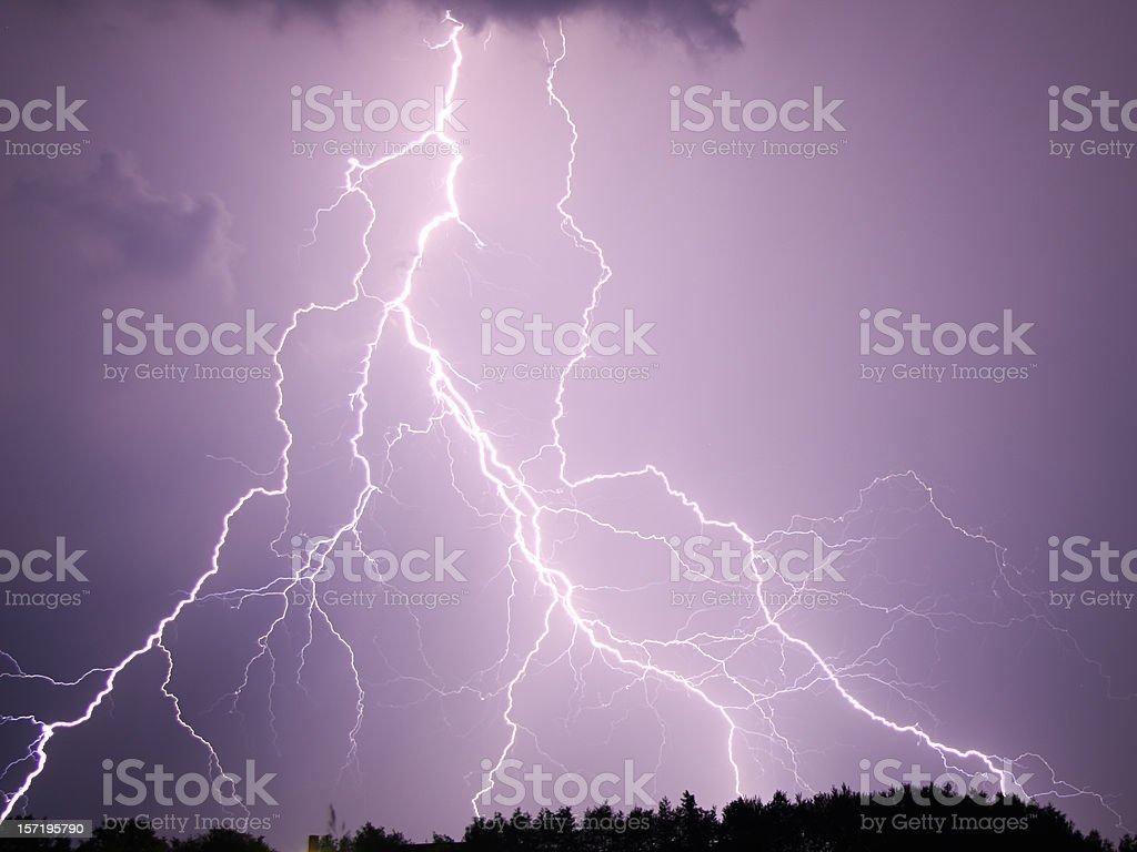 Powerful Lightning royalty-free stock photo