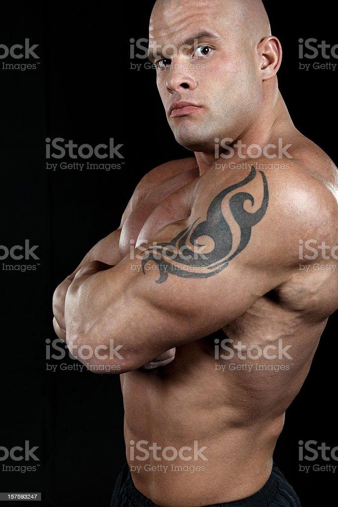 Powerful man portrait royalty-free stock photo