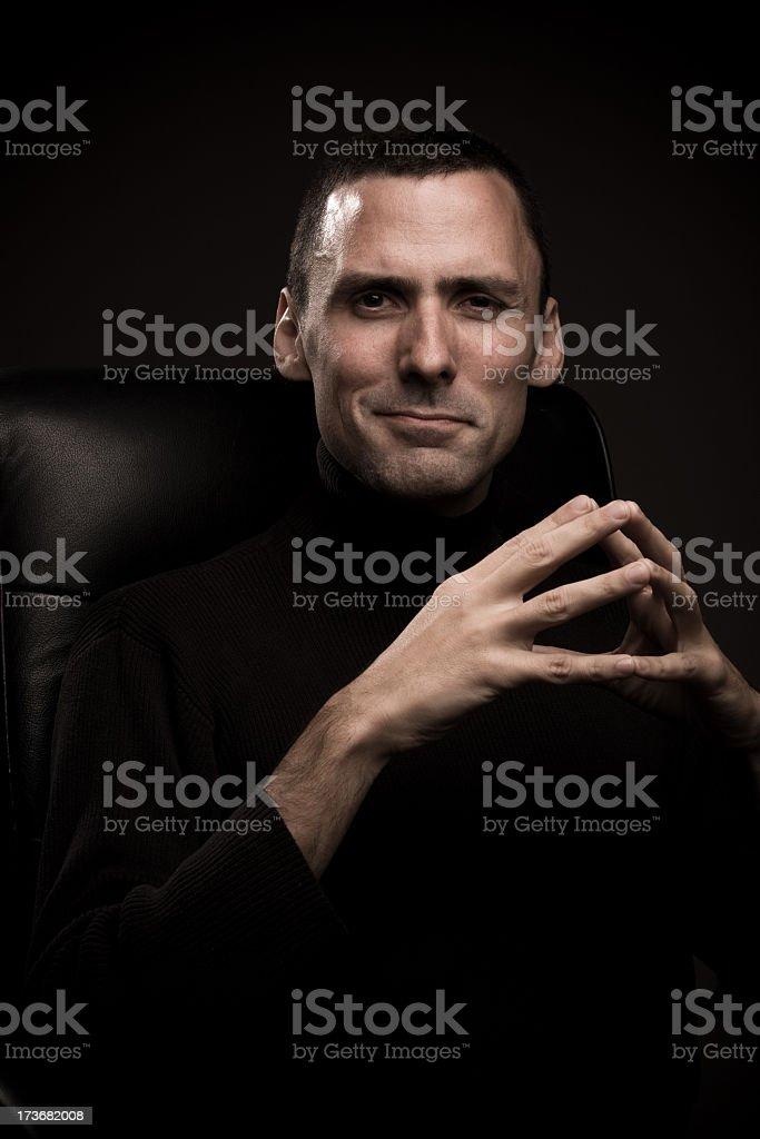 Powerful Man Smirking stock photo