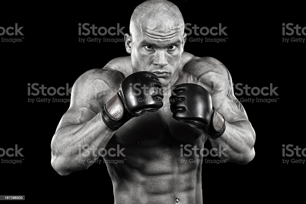 Powerful mma fighter royalty-free stock photo