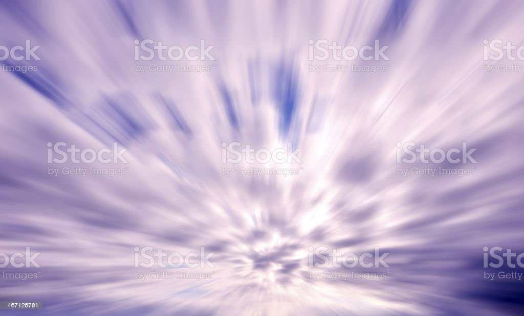 Powerful motion blurred dark clouds royalty-free stock photo
