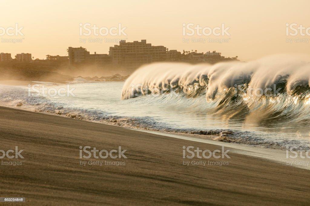 Powerful Ocean Waves stock photo