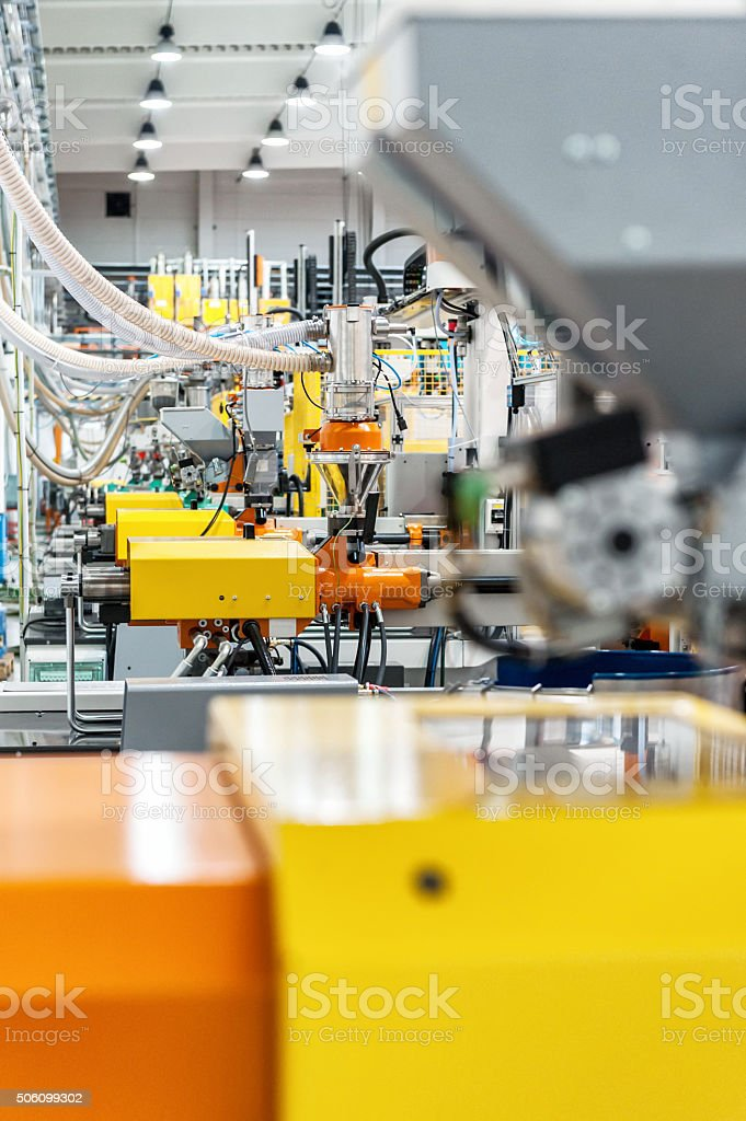 Powerful production line stock photo