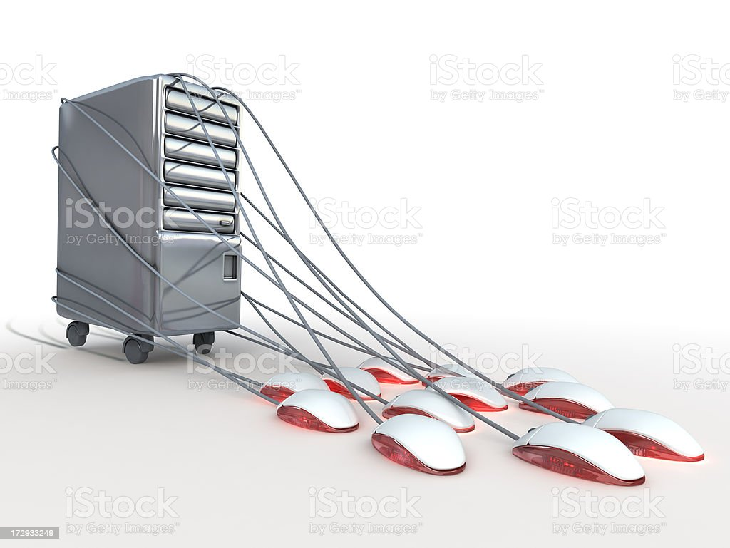 Powerful server stock photo