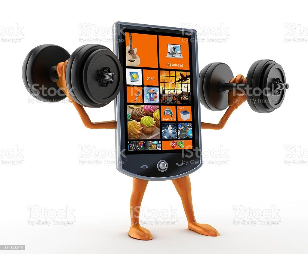 Powerful smartphone royalty-free stock photo